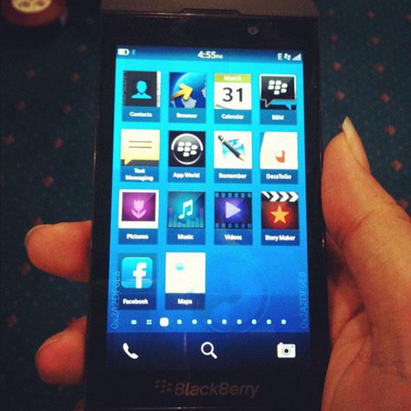RIM's first BlackBerry 10 smartphone revealed in photos and