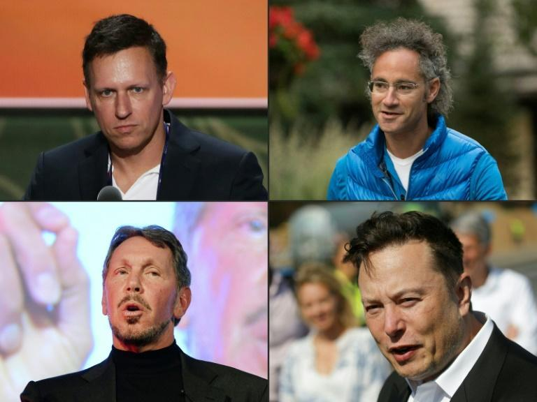 Silicon Valley notables, clockwise from top left, Peter Thiel and Alex Karp of Palantir Technologies, Elon Musk of Tesla and Larry Ellison of Orcale have all announced they are moving from Silicon Valley where their companies launched