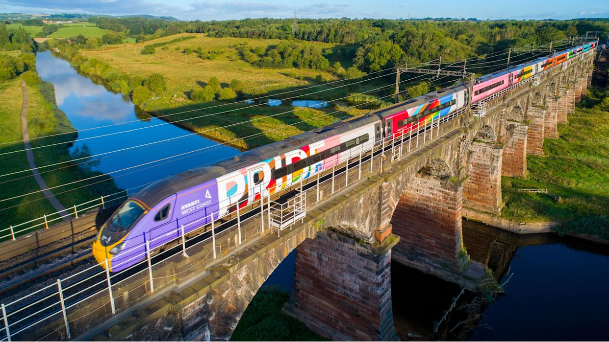 Avanti West Coast launches the UK's first Pride train staffed by an all LGBTQ+ crew