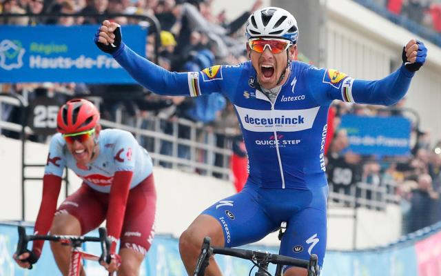 Philippe Gilbert outwittedNils Politt before the Belgian rider won his fifth monument – and fourth different one– on what turned out to be a Sunday in heaven for Deceuninck-Quick Step - Copyright 2019 The Associated Press. All rights reserved.