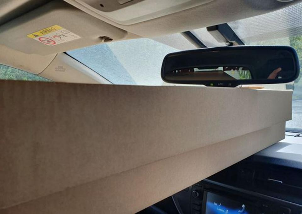 The driver was pulled over as his view was totally obscured by the flat pack wardrobe (Reach)