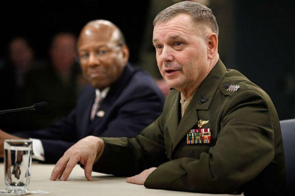 PHOTO: Vice Chairman of the Joint Chiefs of Staff Gen. James Cartwright holds a news briefing and update on the Don't Ask Don't Tell repeal implementation at the Pentagon, Jan. 28, 2011, in Arlington, Va. (Chip Somodevilla/Getty Images, FILE)