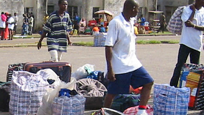 """These kind of plastic bags are still known in West Africa as """"Ghana Must Go"""" bags"""