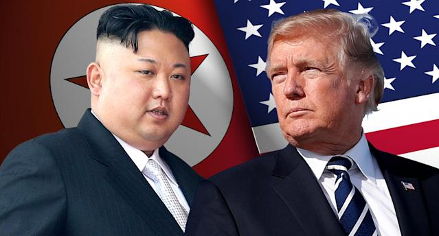 Kim Jong Un and President Trump. (Photo illustration: Yahoo News; photos: AP)