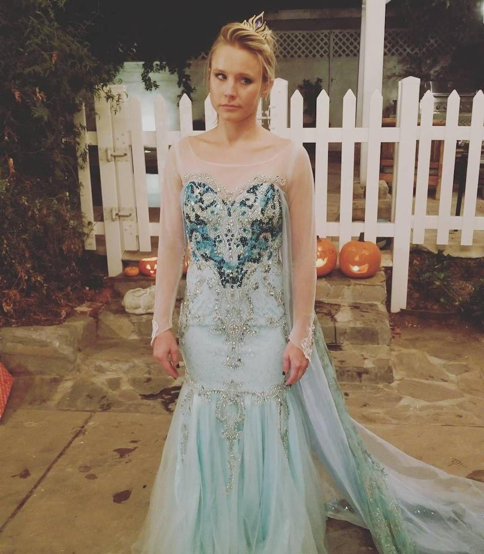 "<p>When Kristen's daughter wanted her to dress up as Elsa (not Anna, who she actually played in <em>Frozen)</em>, she just had to ""let it go."" </p>"