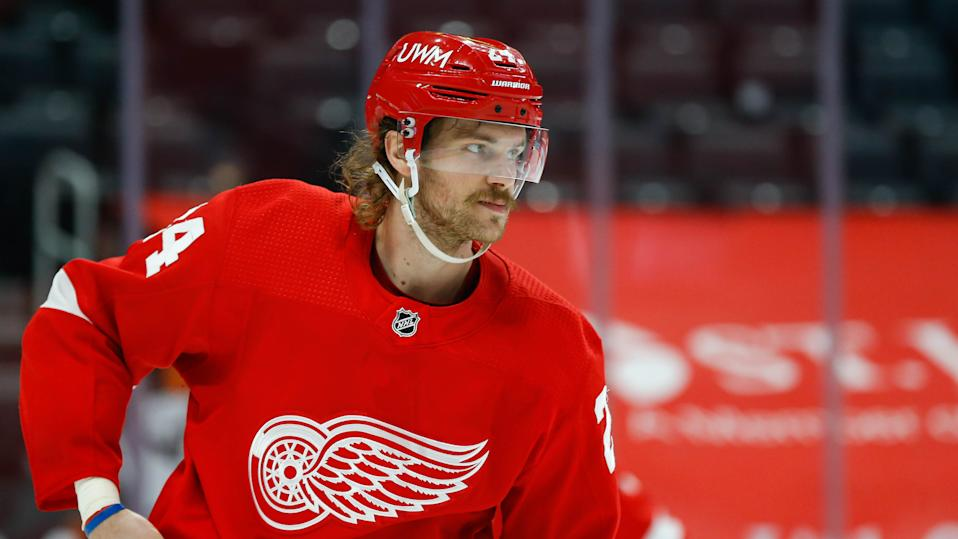 The Montreal Canadiens addressed their blueline Sunday, acquiring Jon Merrill from the Detroit Red Wings ahead of the trade deadline. (Photo by Scott Grau/Icon Sportswire via Getty Images)