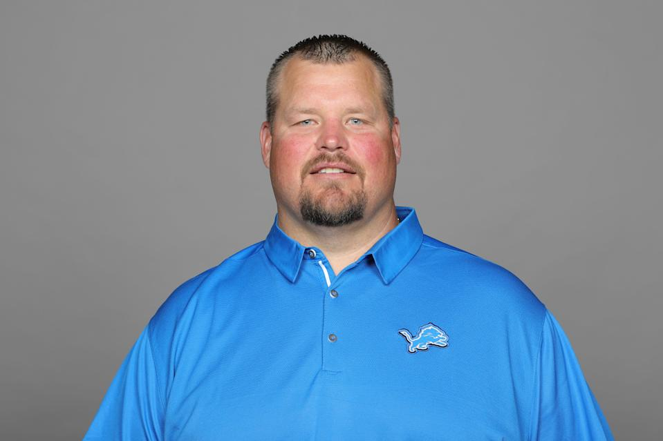 This is a 2019 photo of Hank Fraley of the Detroit Lions NFL football team. This image reflects the Detroit Lions active roster as of Monday, June 3, 2019 when this image was taken. (AP Photo)