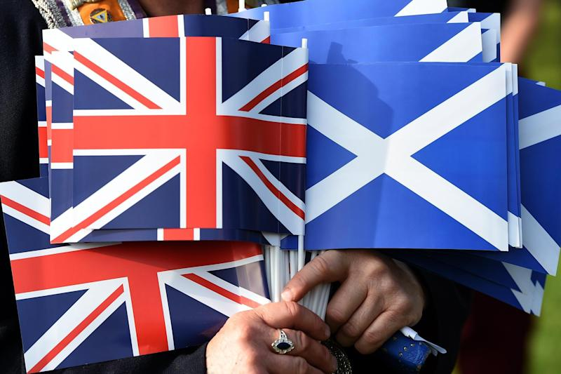 Poll: Over half of people questioned said they would support leaving the EU even if it could lead to Scotland becoming independent: EPA