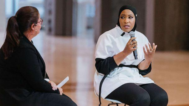 PHOTO: Ibtihaj Muhammad, American olympic fencer, discusses climate change, the importance of sustainability, and more. (Nike)