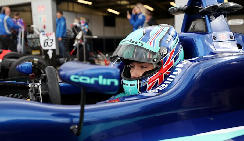 Carlin Motorsports Billy Monger during Race 1 of the Euroformula Open at Silverstone, Towcester. (Photo by David Davies/PA Images via Getty Images)
