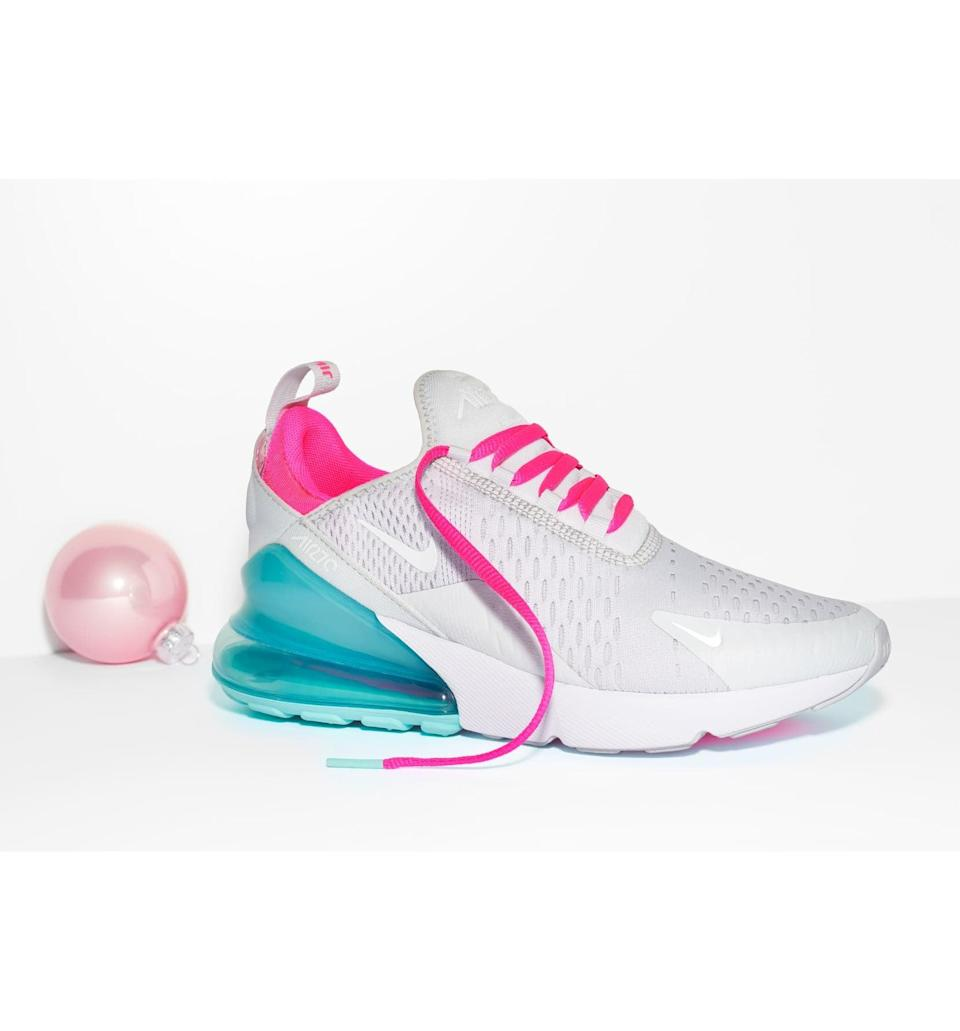 "<p>They'll be excited to unwrap these <a href=""https://www.popsugar.com/buy/Nike-Air-Max-270-Premium-Sneakers-519583?p_name=Nike%20Air%20Max%20270%20Premium%20Sneakers&retailer=shop.nordstrom.com&pid=519583&price=150&evar1=fab%3Aus&evar9=44353153&evar98=https%3A%2F%2Fwww.popsugar.com%2Ffashion%2Fphoto-gallery%2F44353153%2Fimage%2F47015413%2FNike-Air-Max-270-Premium-Sneakers&list1=shopping%2Cnordstrom%2Choliday%2Cgift%20guide%2Clast-minute%20gifts%2Cfashion%20gifts%2Cgifts%20for%20women&prop13=mobile&pdata=1"" rel=""nofollow noopener"" class=""link rapid-noclick-resp"" target=""_blank"" data-ylk=""slk:Nike Air Max 270 Premium Sneakers"">Nike Air Max 270 Premium Sneakers</a> ($150-$160).</p>"