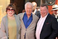 27 March 2015 - Hollywood, California - Shirley MacLaine, Christopher Plummer, William Shatner. Christopher Plummer Hand & Footprint Ceremony held at the TCL Chinese Theatre. Photo Credit: Byron Purvis/AdMedia *** Please Use Credit from Credit Field ***