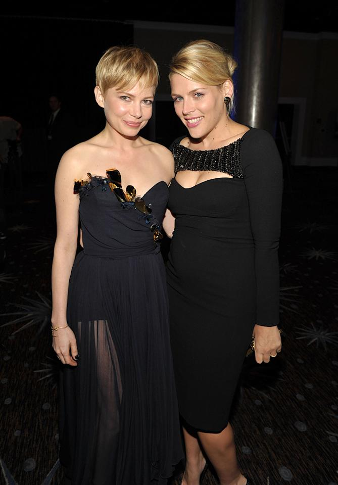 "<a href=""http://movies.yahoo.com/movie/contributor/1800018861"">Michelle Williams</a> and <a href=""http://movies.yahoo.com/movie/contributor/1800355565"">Busy Phillips</a> at the 15th Annual Hollywood Film Awards in Beverly Hills, California on October 24, 2011."