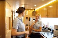 "<p>Bravo is pretty strict with maintaining the fourth wall, and <em>Below Deck </em>takes this rule very seriously. While filming, cast members are <a href=""https://www.nytimes.com/2020/06/29/style/below-deck-bravo.html"" rel=""nofollow noopener"" target=""_blank"" data-ylk=""slk:not allowed to interact or acknowledge"" class=""link rapid-noclick-resp"">not allowed to interact or acknowledge</a> the presence of production. </p>"