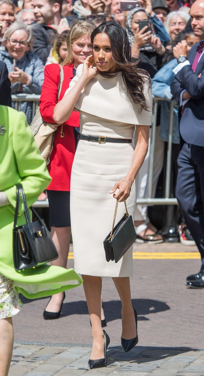 <p>The Duchess of Sussex wore Givenchy to Cheshire.</p>