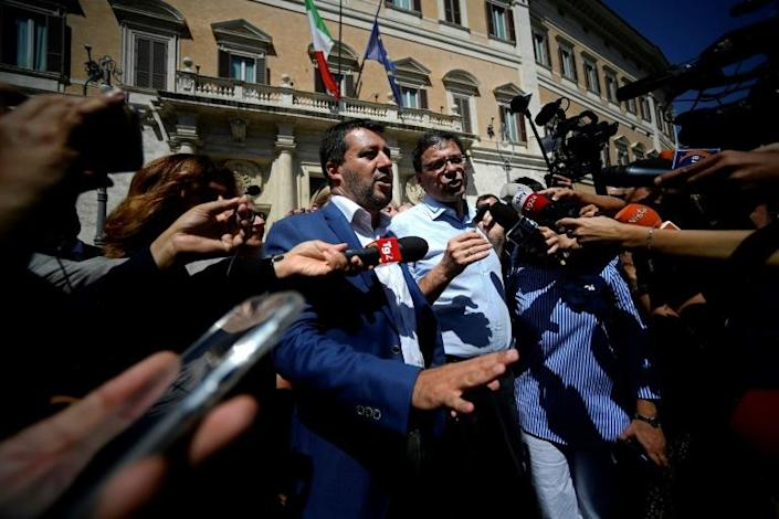 Interior Minister Matteo Salvini tried to force a snap election (AFP Photo/Filippo MONTEFORTE)