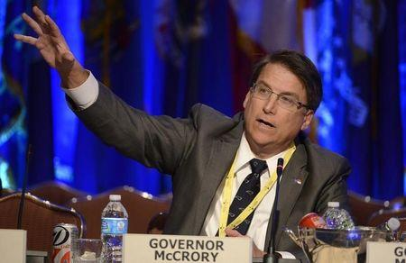 North Carolina Governor McCrory attends a National Governors Association discussion during its Winter Meetings in Washington