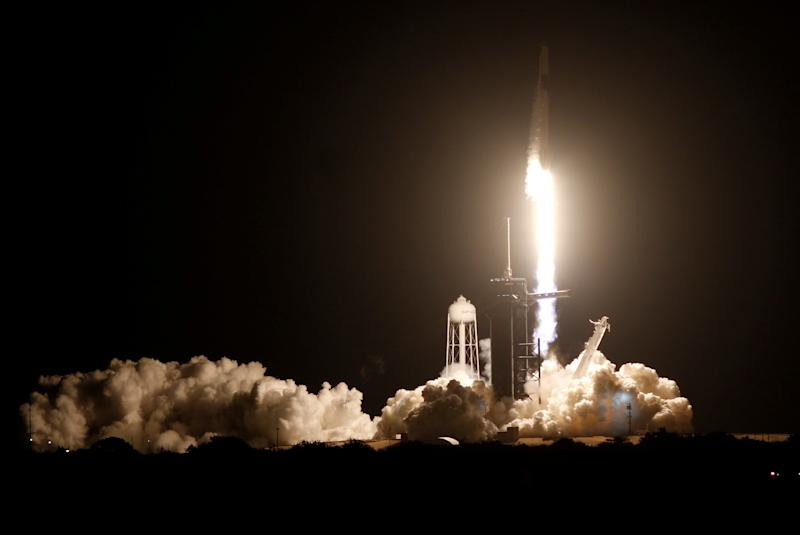 SpaceX launches crew on Nasa flight to International Space Station