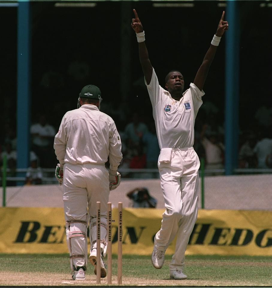 "Curtly Ambrose, 6'7"": A towering right-arm fast bowler, Ambrose, in conjunction with his partner-in-crime Courtney Walsh, formed one of the best opening bowling partnerships in history. The pair claimed 421 wickets in the 49 Tests they played together. Not very expressive with words, Ambrose had a famous run in with Steve Waugh when the two clashed in 1995 in the Frank Worrell Trophy.  He took 630 international wickets and since calling it a day from cricket, Ambrose has shown a weakness for the Bass guitar, often performing live in his hometown."