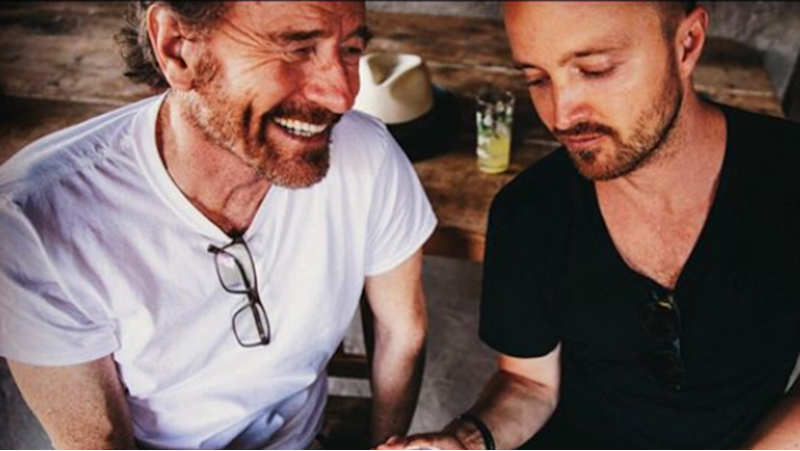 Aaron Paul and Bryan Cranston's drinks announcement annoys fans (Credit: Aaron Paul)
