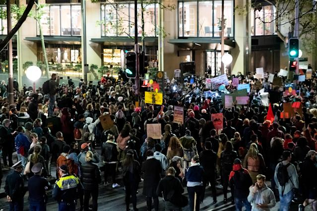 Authorities in Sydney have been awarded a Supreme Court injunction to prevent further mass BLM protests due to fears of the spread of COVID-19. (AP)