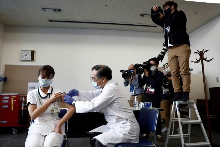 Japan has kicked off its cautious coronavirus vaccination programme using Pfizer/BioNTech shots