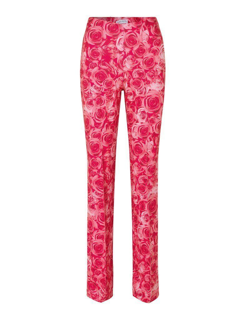 """<p><strong>Saks Potts</strong></p><p>sakspotts.com</p><p><strong>$165.00</strong></p><p><a href=""""https://sakspotts.com/collections/pants/products/lissi-pants-sexy-rose-print"""" rel=""""nofollow noopener"""" target=""""_blank"""" data-ylk=""""slk:SHOP IT"""" class=""""link rapid-noclick-resp"""">SHOP IT</a></p><p>Roses are red, violets are blue, I love these pants and so should you! These feminine floral pants are perfect for summer. </p>"""