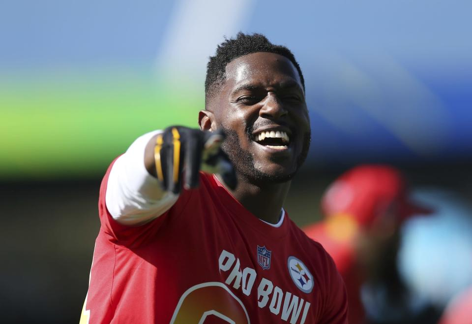 Antonio Brown will be on the cover of Madden 19. (AP Photo/Doug Benc)