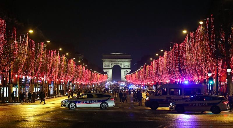"""The famous Champs Elysees avenue in Paris has been one of the main scenes of """"yellow vest"""" anti-government protests and there are plans for another demonstration on New Year's Eve"""