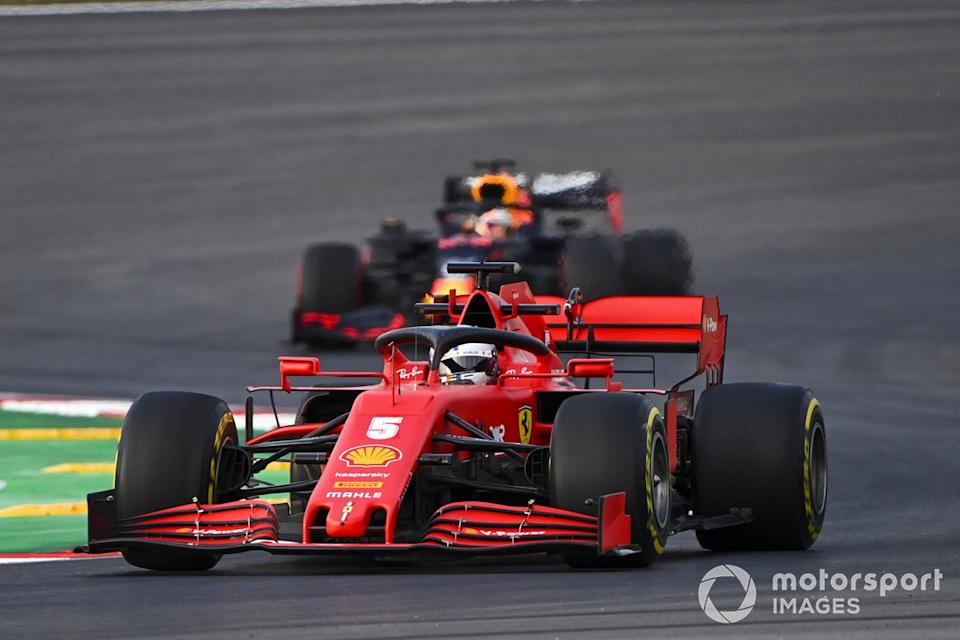 "Sebastian Vettel, Ferrari SF1000, Max Verstappen, Red Bull Racing RB16<span class=""copyright"">Mark Sutton / Motorsport Images</span>"