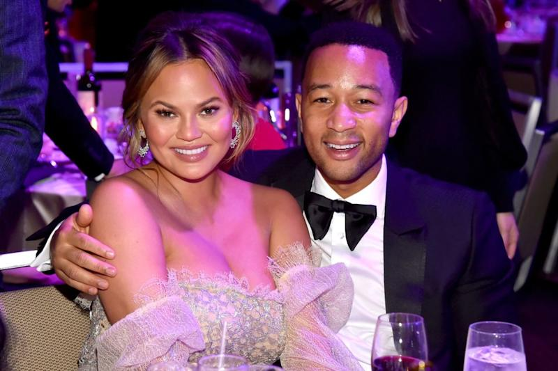 Chrissy Teigen and John Legend in January