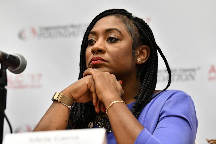 Co-Founder of Black Lives Matter Alicia Garza serves as a panelist for 'The Resistance, an Intersectional Strategy Session' at Walter E. Washington Convention Center on Sept. 21, 2017 in Washington, D.C. (Photo: Earl Gibson III/WireImage)