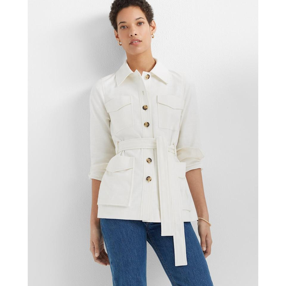 <p>This <span>Club Monaco Textured Utility Jacket </span> ($279) is the perfect mix of trendy and timeless.</p>