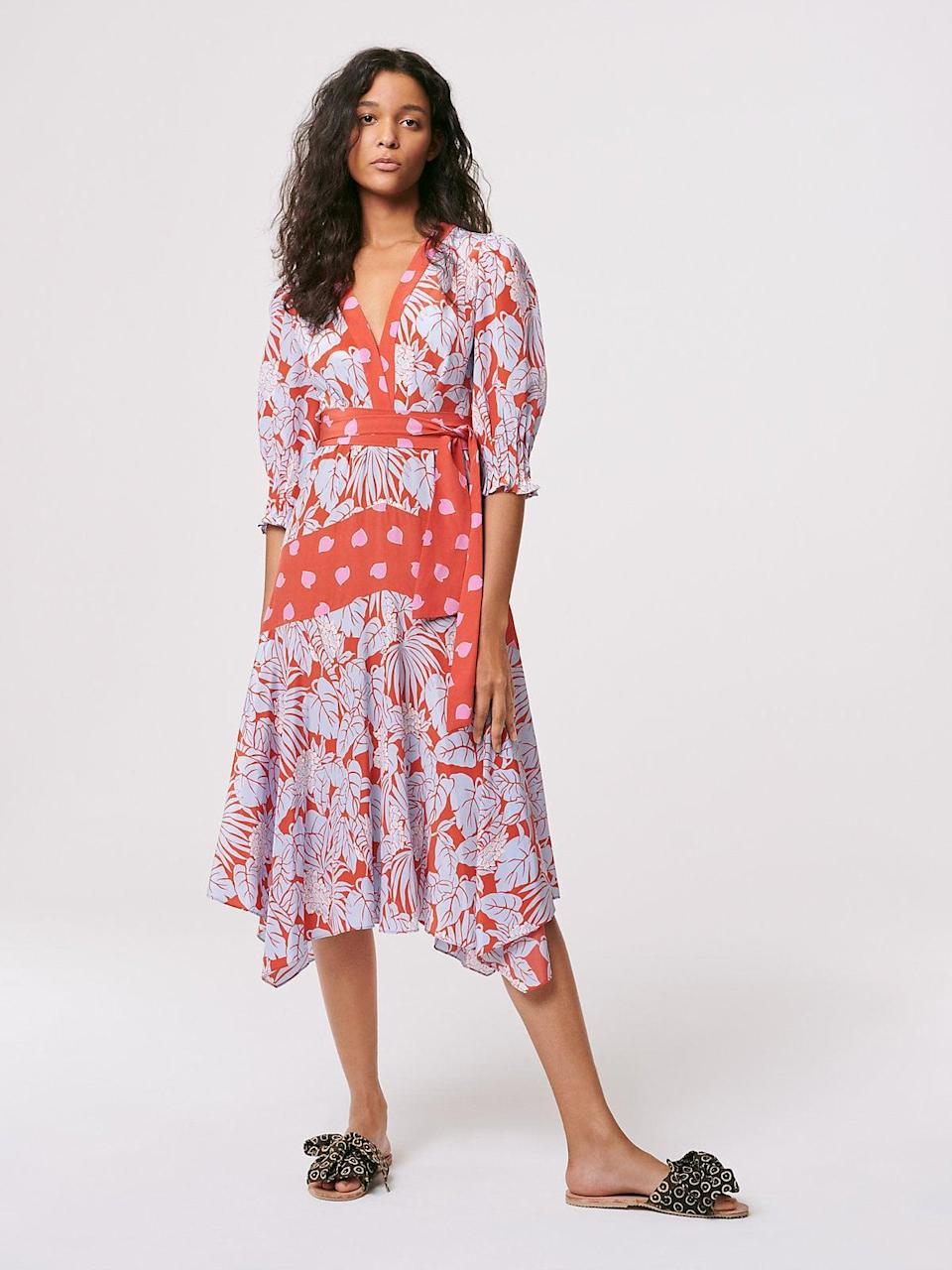 <p>I want to be on a beach somewhere in this <span>DVF Gaines Silk Crepe de Chine Asymmetrical Dress</span> ($628).</p>