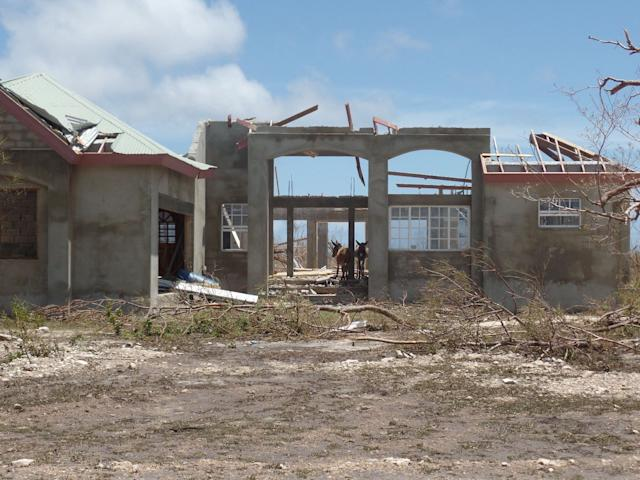 Codrington, Antigua and Barbuda after Hurricane Irma