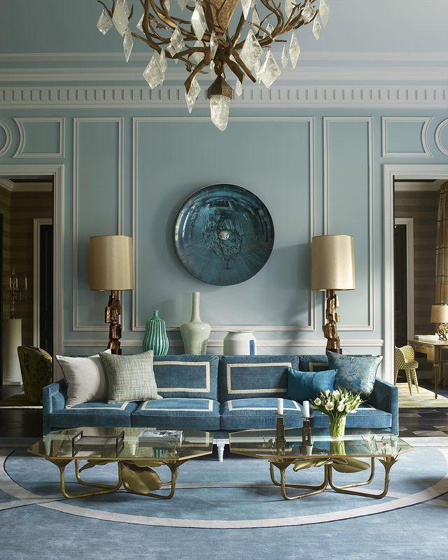 "<p>An amalgam of soothing blues plays into this traditional French home's classic architecture.</p><p><a class=""link rapid-noclick-resp"" href=""https://www.elledecor.com/design-decorate/house-interiors/g2739/house-tour-middle-eastern-princess-paris-apartment/"" rel=""nofollow noopener"" target=""_blank"" data-ylk=""slk:TOUR THE HOME"">TOUR THE HOME</a></p><p><a href=""https://www.instagram.com/p/B8uW1OhJSgk/"" rel=""nofollow noopener"" target=""_blank"" data-ylk=""slk:See the original post on Instagram"" class=""link rapid-noclick-resp"">See the original post on Instagram</a></p>"