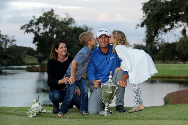 "<div class=""caption""> Charles Howell III poses with his wife, Heather, and their kids, Charles and Ashley, after winning the 2018 RSM Classic. </div> <cite class=""credit"">Streeter Lecka/Getty Images</cite>"