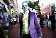 <p>Cosplayer dressed as Joker at Comic-Con International on July 19, 2018, in San Diego. (Photo: Tommaso Boddi/Getty Images) </p>
