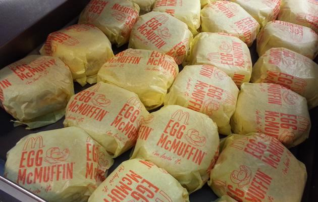 1,000 Egg McMuffins was given away across all participating stores in Singapore. (Yahoo! Photo)