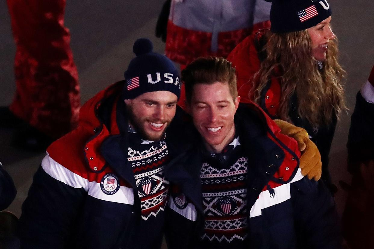 Snowboarder Shaun White and freestyle skiier Gus Kenworthy of Team USA.