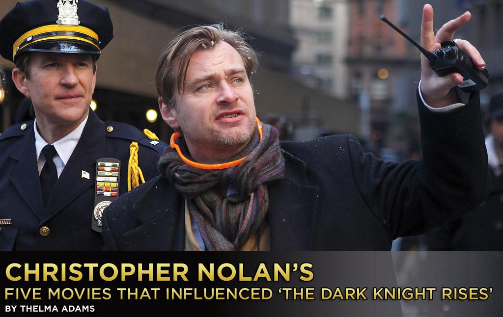 "What five movies most influenced ""The Dark Knight Rises"" Director Christopher Nolan? He went the cinematic equivalent of basic black, picking these five classics and telling Yahoo! Movies why:"