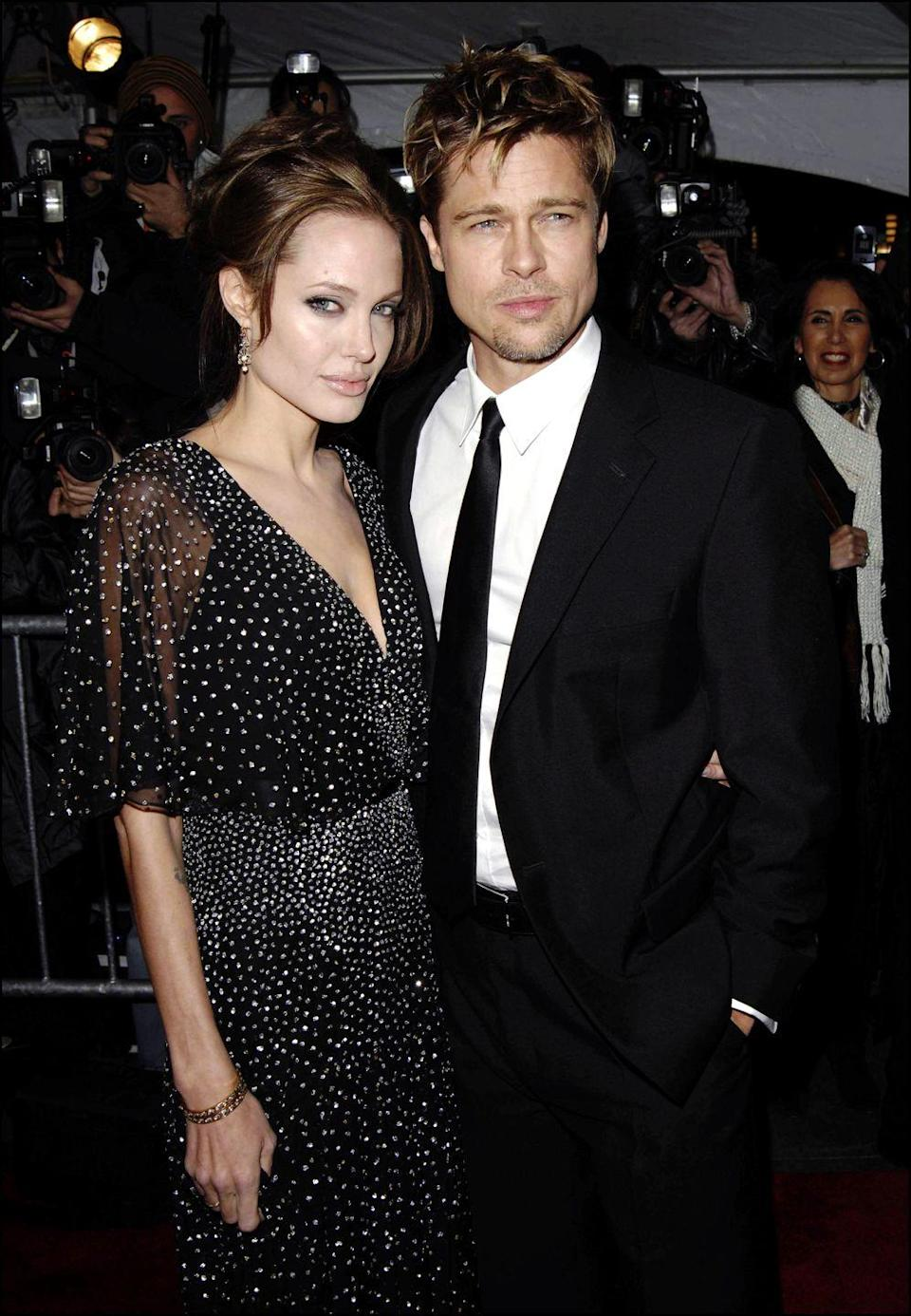 <p>In January 2006, Pitt and Jolie announced that they were expecting, publicly acknowledging their relationship for the first time. Shiloh Nouvel was born on May 27, 2006. Here's the couple in November 2006 at the premiere of <em>The Good Shepherd.</em></p>