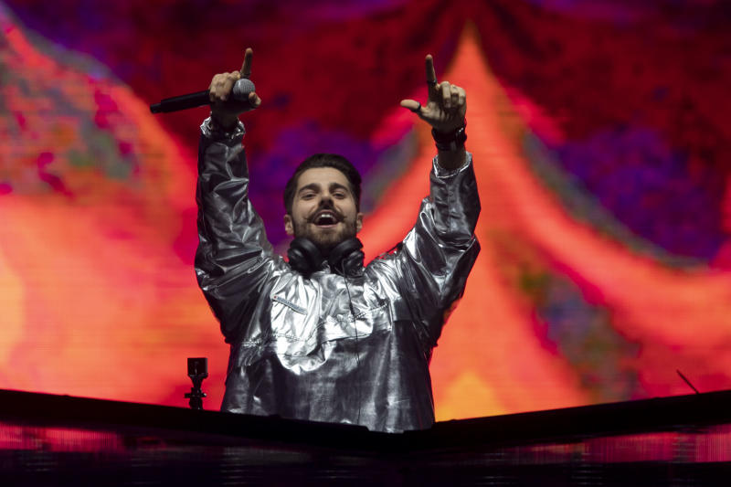 Brazilian DJ Alok performs during the Rock in Rio festival at the Olympic Park, Rio de Janeiro, Brazil, on September 27, 2019. - The week-long Rock in Rio festival starts this Friday with international stars as headliners, over 700,000 spectators and social actions including the preservation of the Amazon. (Photo by MAURO PIMENTEL / AFP) (Photo credit should read MAURO PIMENTEL/AFP via Getty Images)