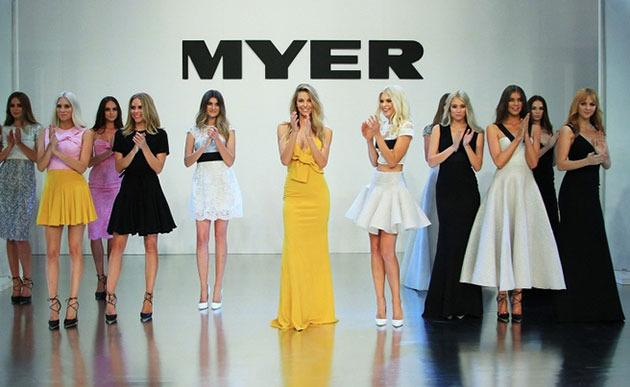 Alex Perry designs on the Myer runway.
