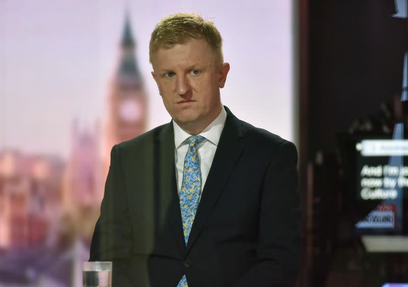 Britain's Secretary of State for Digital, Culture, Media and Sport Dowden on Andrew Marr Show in London