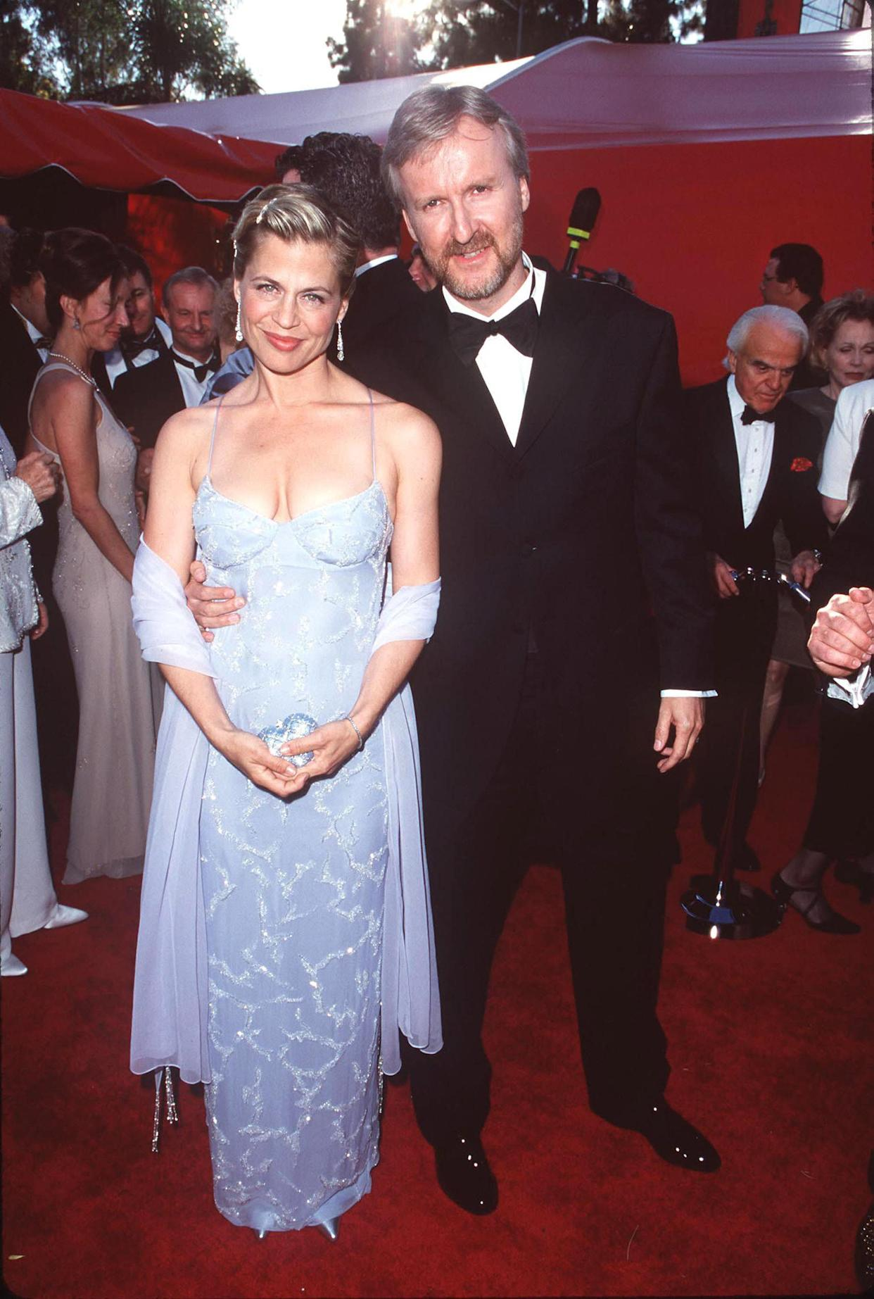 James Cameron and Linda Hamilton attend The 70th Annual Academy Awards together. (Photo: SGranitz via Getty Images)