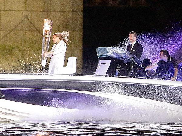 David Beckham Makes Grand Entrance At Olympics Opening Ceremony On Speedboat