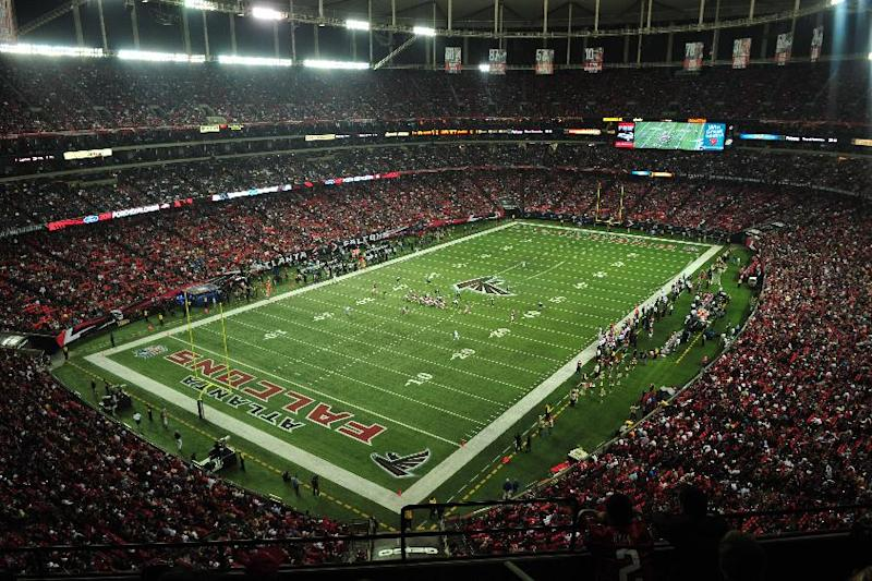 In this file photo taken, Dec. 15, 2011, the Georgia Dome is seen during an NFL football game between the Atlanta Falcons and the Jacksonville Jaguars in Atlanta. On Thursday, April 26, 2012, the Falcons didn't have a pick in the first round of the NFL draft. Not to worry. They're on the verge of landing something far more valuable, a new stadium costing nearly a billion dollars. (AP Photo/Pouya Dianat, file)