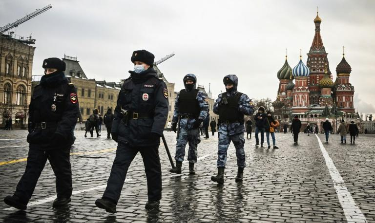 Police in Moscow announced the closure of seven metro stations and said movement of pedestrians would be limited in the city centre