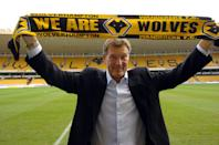 The new Wolverhampton Wanderers' manager Glenn Hoddle at Molineux, the Wolves ground at Wolverhampton, England, Tuesday, Dec. 7, 2004. Hoddle has joined the struggling English League Championship soccer team on a six-month contract. (AP Photo/David Jones/PA) ** UNITED KINGDOM OUT MAGS OUT NO SALES **